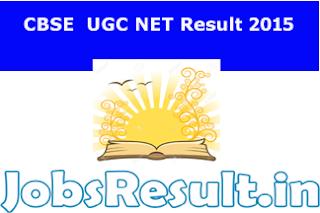 CBSE  UGC NET Result 2015