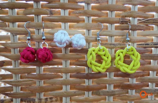 DIY knot earrings