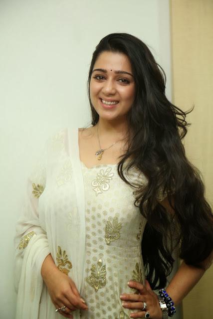 Charmi Kaur in Salwar Kameez at Radio Mirchi