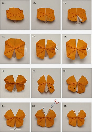 Paper Crafts Origami For Kids Butterfly Instructions
