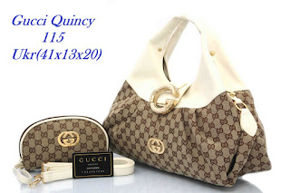 Tas KW Gucci Quincy Kanvas Semi Premium 115VY Jakarta
