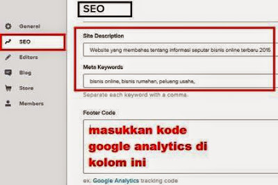 gambar pengaturan SEO Website Di Weebly