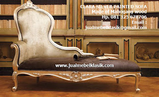 Supplier Indonesia Classic Furniture Supplier Classic wooden sofa carved supplier mahogany sofa finished silver painted
