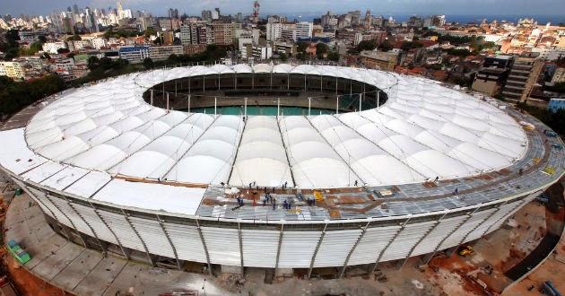 Los estadios del Mundial de Fútbol de Brasil 2014