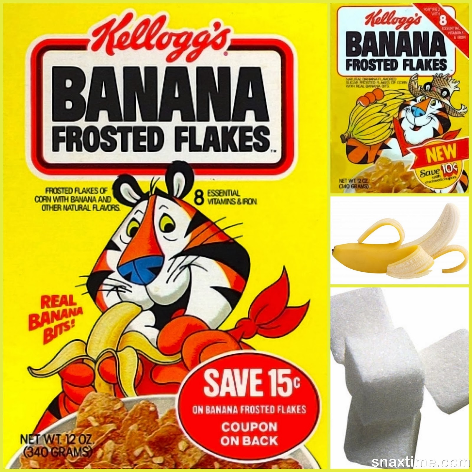Kellogg s banana frosted flakes gr r reat 80s cereal snaxtime