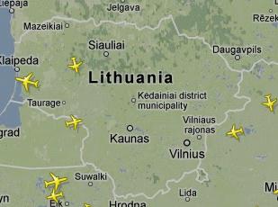 Vilniaus oro uostas orlaiviu eismas ore