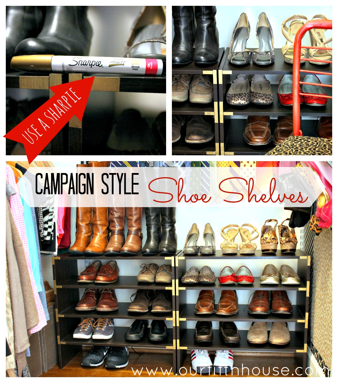 shoe shelves  Looking for an inexpensive  easy diy shoe storage idea. Thinking Outside the Closet  Clothing Storage Ideas for Small