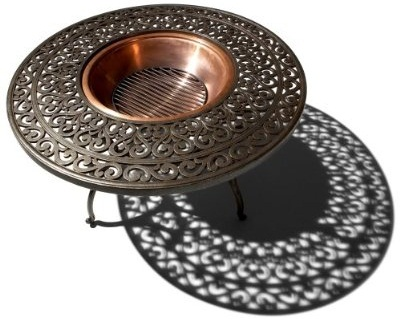 Strathwood St Thomas Cast Aluminum Fire Pit With Table