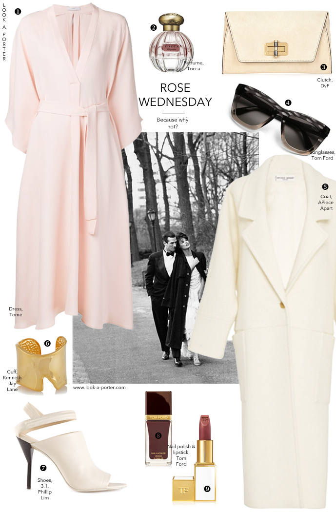 An elegant outfit idea inspired by New York Fashion Week and styled with all American brands and designers. Via www.look-a-porter.com / outfit ideas daily