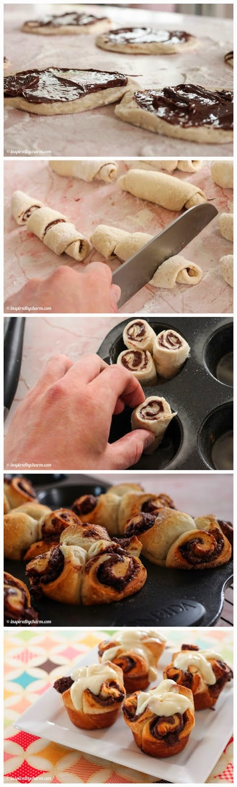 How To Make Nutella Rolls with Cream Cheese Icing