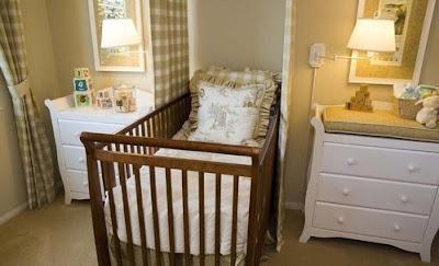 habitación bebé colores tierra