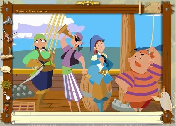 http://juegoseducativosonlinegratis.blogspot.com.es/2012/09/los-piratas-de-la-ortografia-mayusculas.html