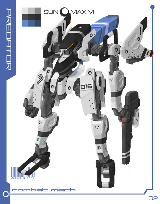 Sun Maxim: Earth Military Mech por Nidaram