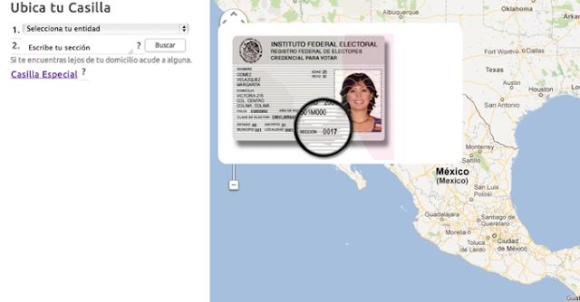Ubica tu casilla con ayuda de Google Maps