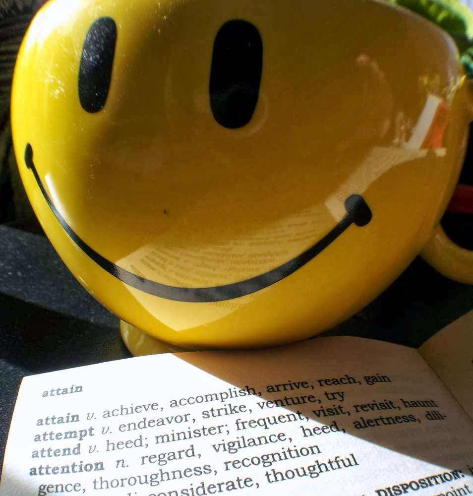 Focus on Life: The word of 2014: attain ~ achieve, accomplish, reach, gain + smiley mug :: All Pretty Things