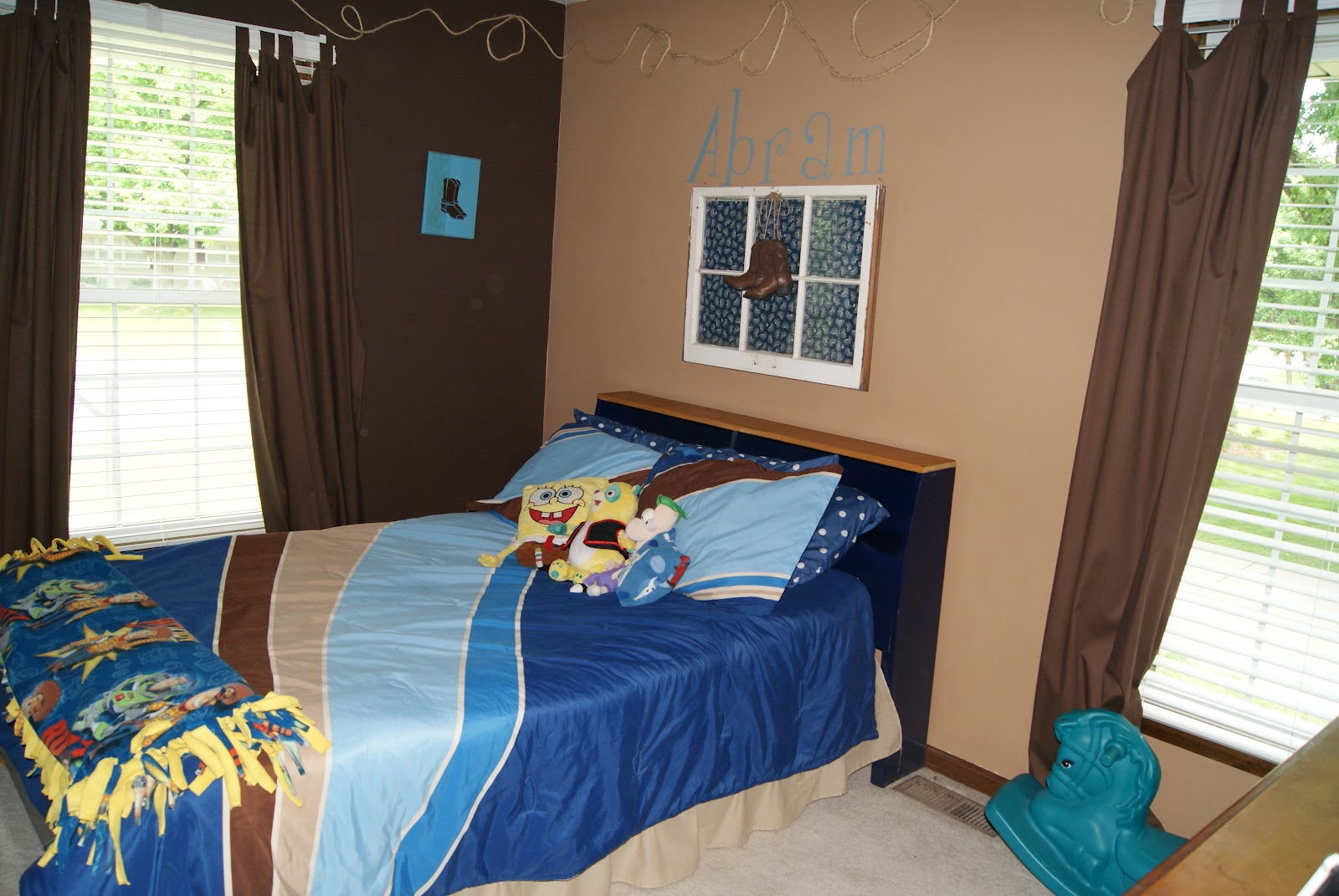 momsimplified cowboy themed bedroom