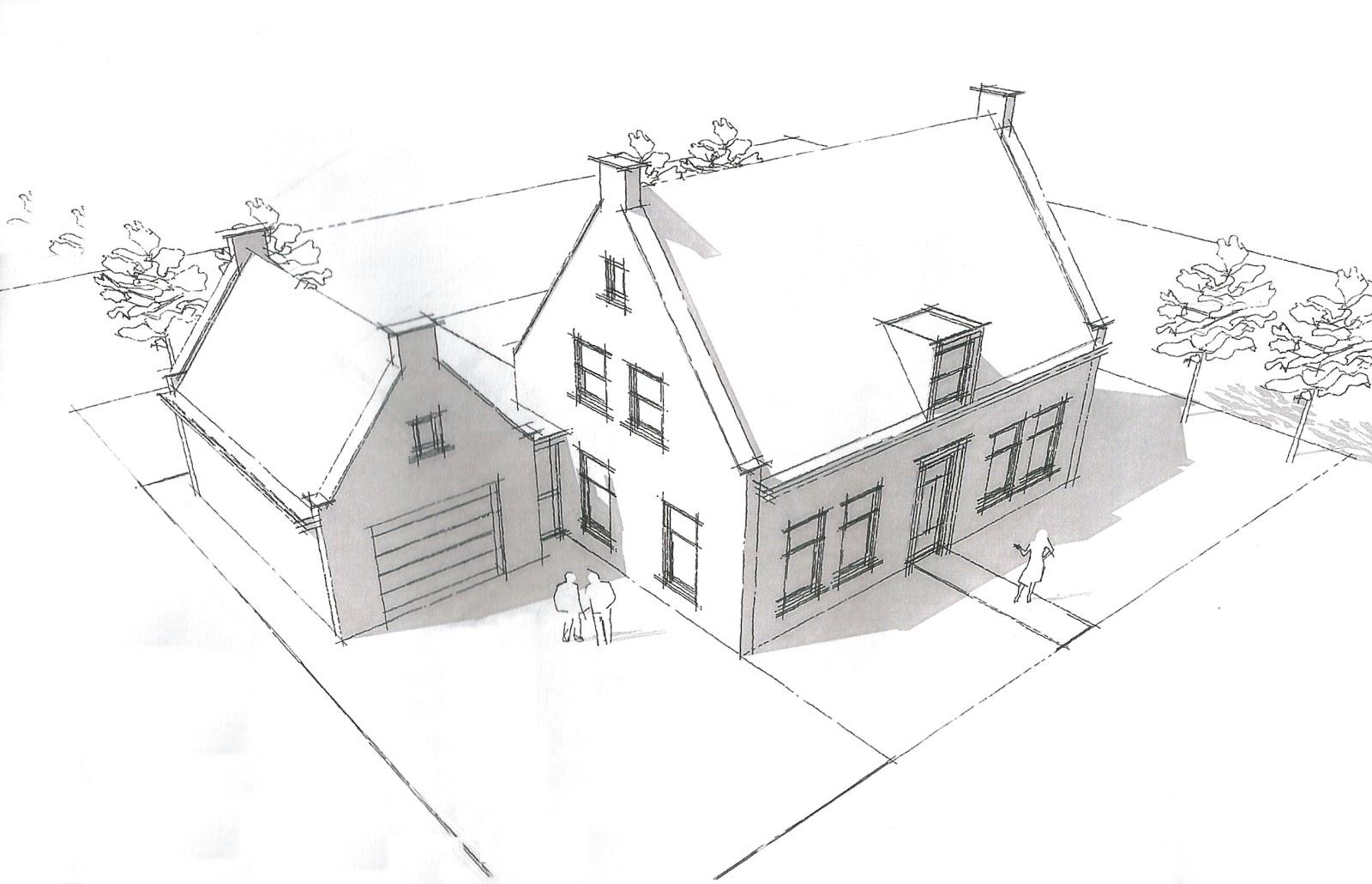 Het bouwen van ons nieuwe huis straat veranderd ontwerp for Tekening badkamer maken