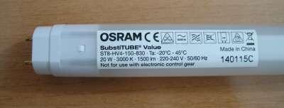 Bombillas de bajo consumo ¿ahorro o timo?: Tubo led Osram ...