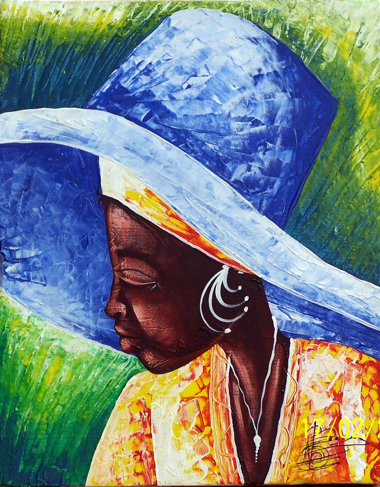 Haitianarts painting woman face