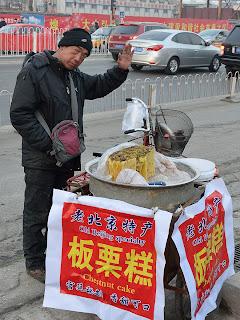 Chestnut cake vendor in Beijing