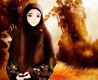 wallpaper muslimah kartun. wallpaper muslimah cartoon.