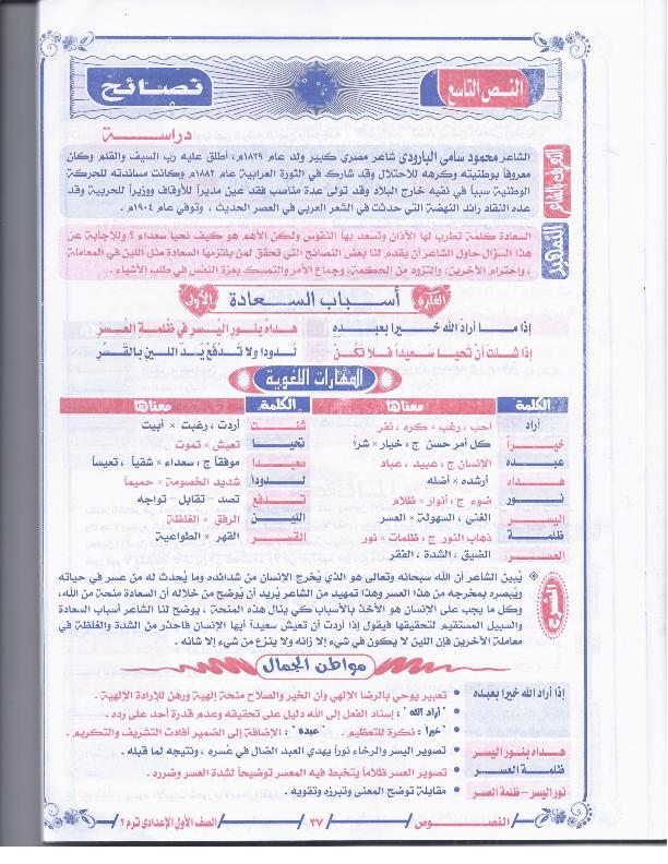 مراجعات وامتحانات عربى اولى اعدادى الترم الثانى2015 1pr+arabic+t2_02