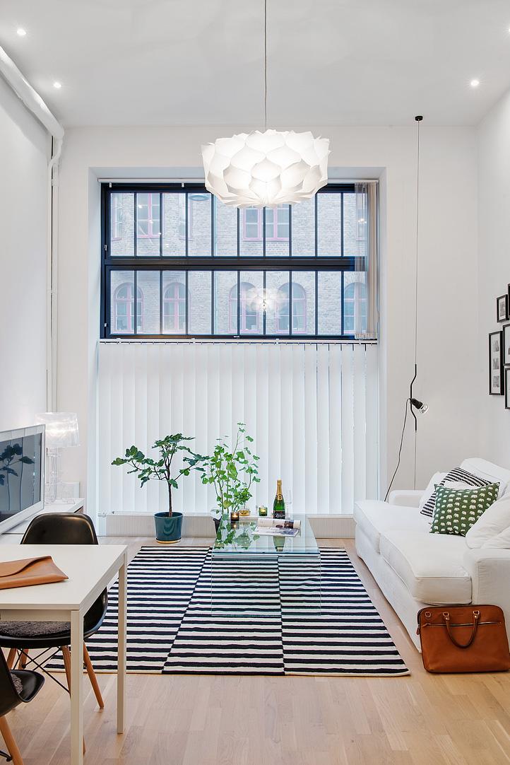 Small low cost un apartamento de 47 m2 decorar tu for Decoration cost per m2