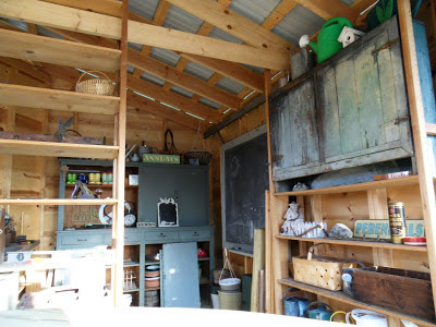 Garden Shed Cabin Storage Chalk Board