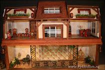 Кукольный домик из книжной полки - МК от Надежды Давыдовой