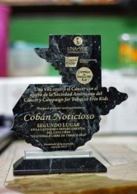 Reconocimiento a Cobán Noticioso.