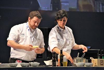 Xavier Diéz y Aizpea Oihaneder en Gastronomika 2012 Blog Esteban Capdevila