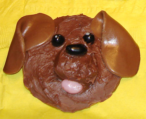 cookie with dog design