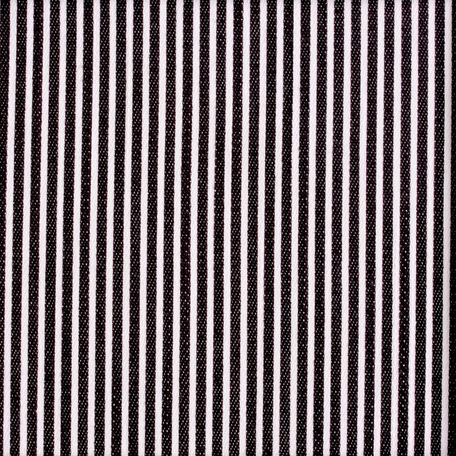Mælkedrengestribet stof i sort og hvid