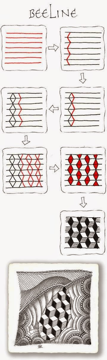 Zentangle rustgevend tekenen zentangle basispatronen stap voor stap 1