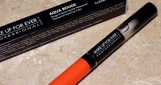 crystal candy makeup blog review swatches rouge l vres waterproof aqua rouge 17 bright. Black Bedroom Furniture Sets. Home Design Ideas