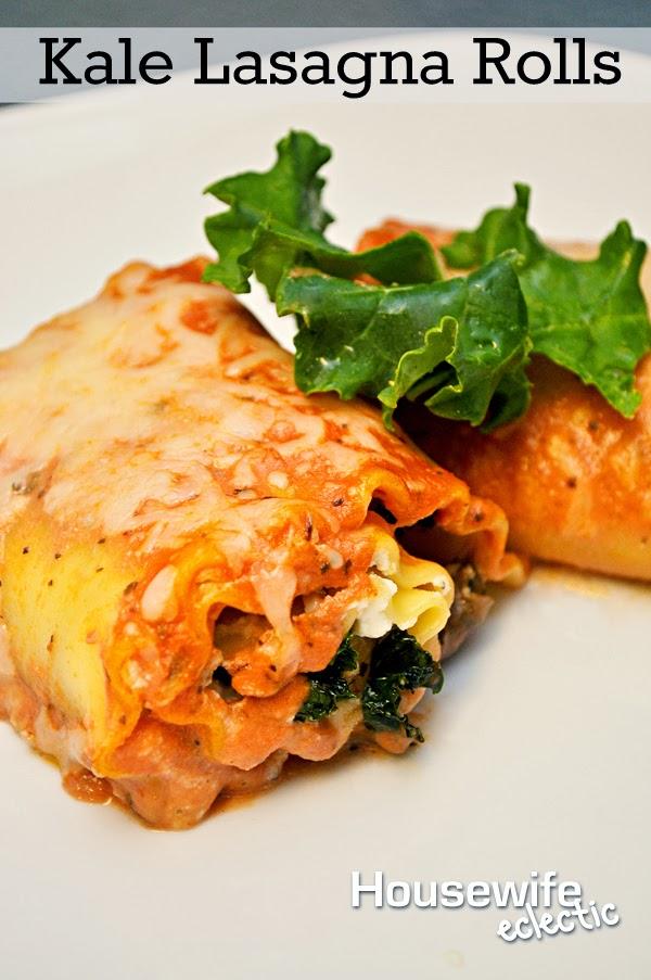Housewife Eclectic: Kale Lasagna Rolls