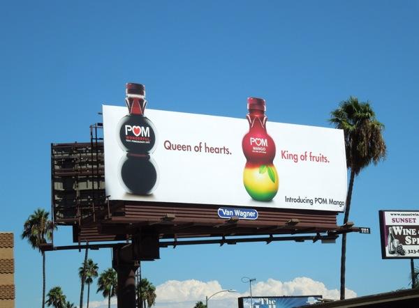 Pom Mango King of fruits billboard