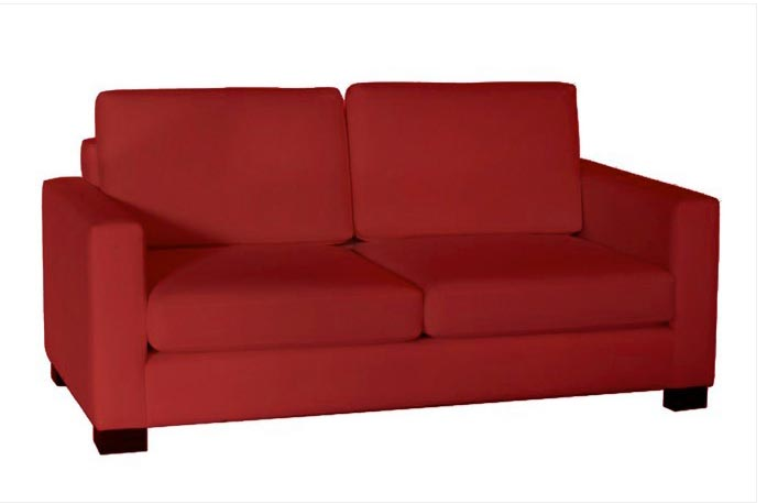 Sofá dos plazas color rojo