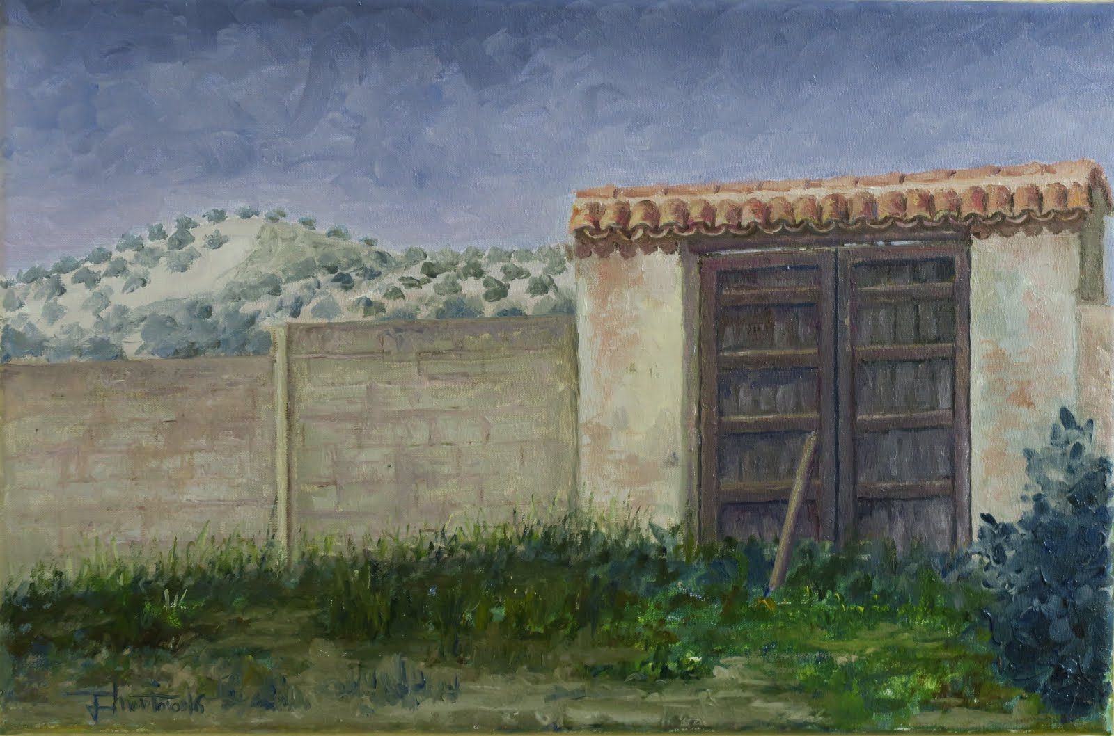 El Cerro del Águila desde el corralón de Juanito; Fuerte del Rey, Jaén (6P)