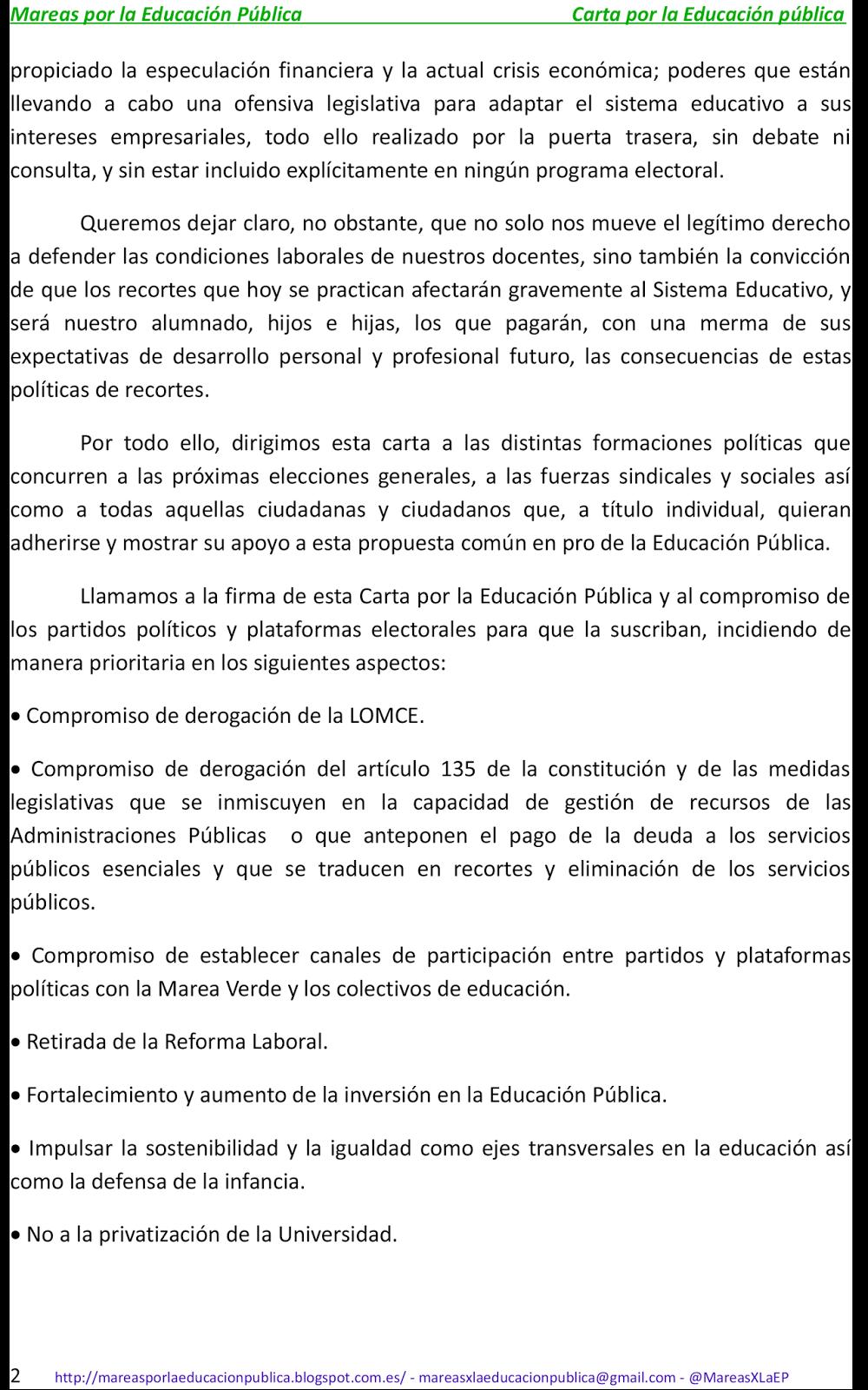 Mareas por la Educación Pública : 2015