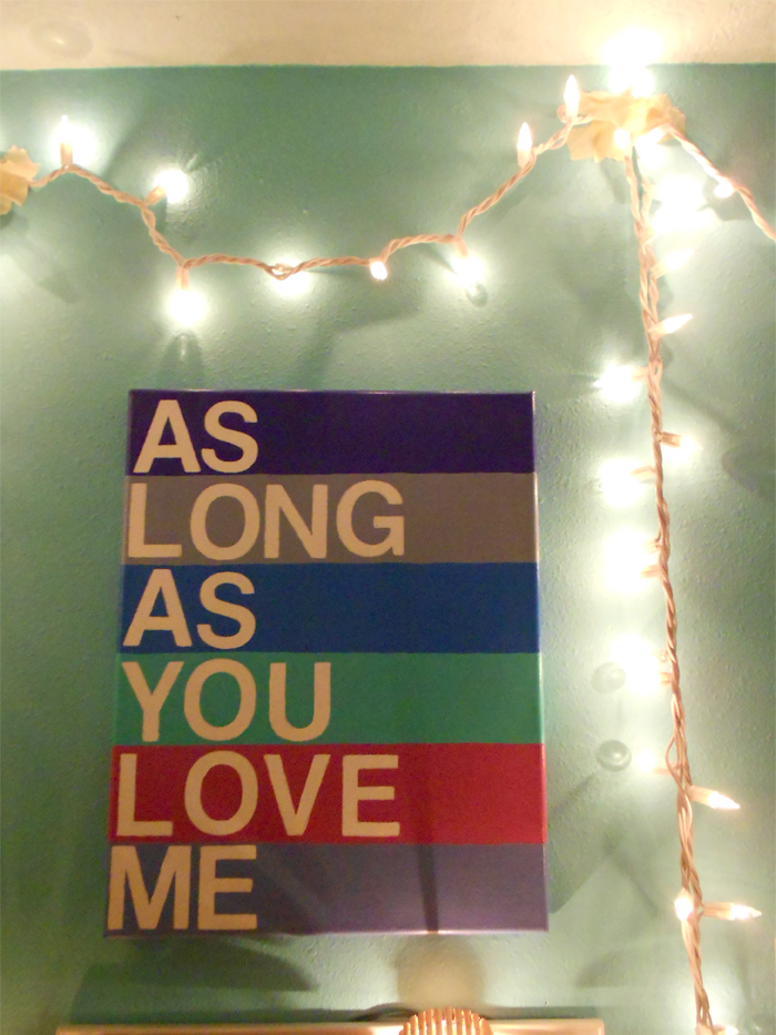 As Long As You Love Me, Justin Bieber and BSB lyrics painted canvas art