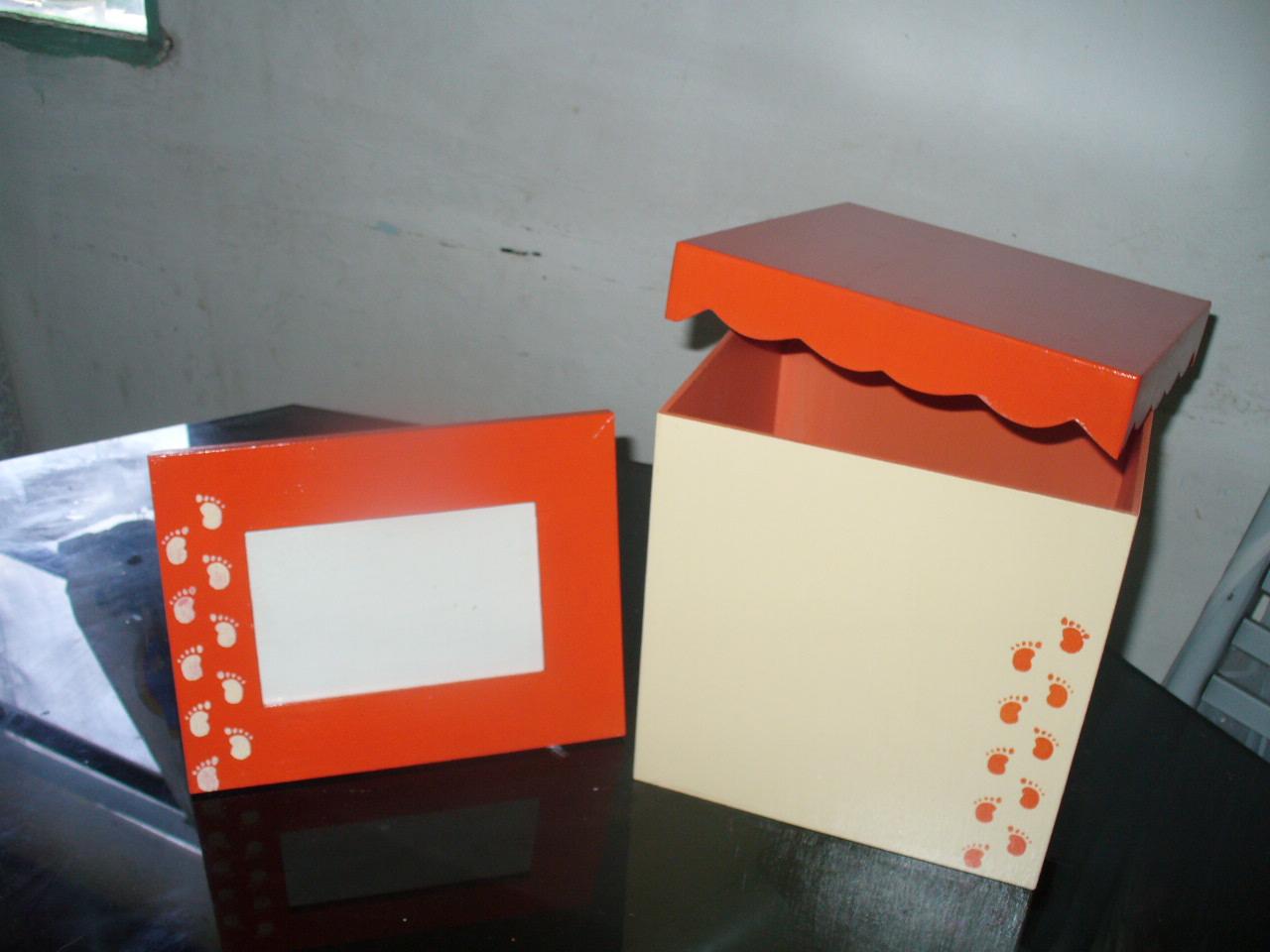 Dulces manualidades caja madera pintada a mano grande - Caja madera manualidades ...