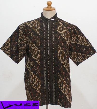 Desain Blouse Batik Terbaru Peach Sleeveless Blouse