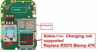 nokia 2700c not charging problem