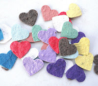 flower seeded heart confetti