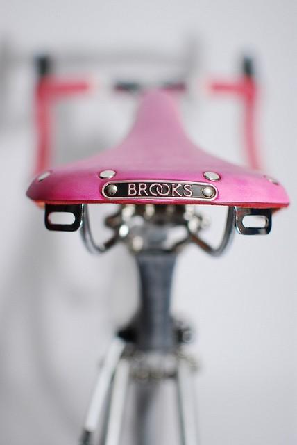 pink bicycle seat