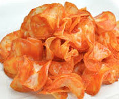 Resep makanan cemilan keripik singkong balado spesial praktis, mudah, renyah, gurih, lezat