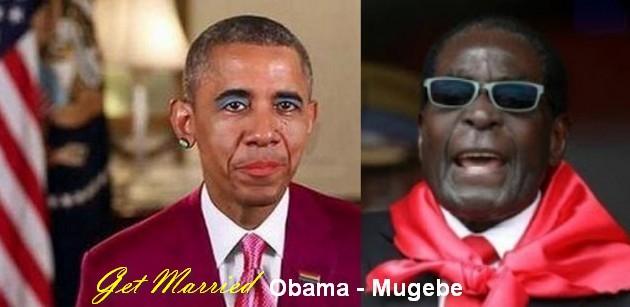 Legalkan Kawin Sejenis, Presiden Zimbabwe Robert Mugabe Ajak Obama Menikah