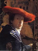 Vermeer schilderij Meisje met de rode hoed