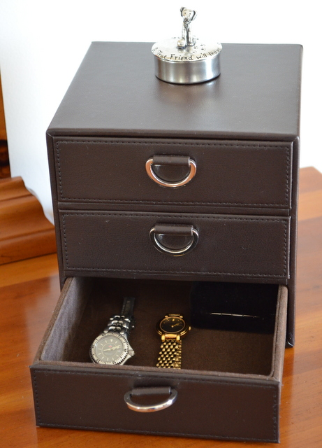 3 Drawer Portofino Jewelry Cube in Espresso from The Container Store
